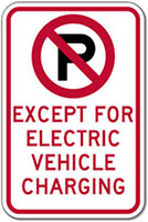 regulatory sign for electric vehicle charging station